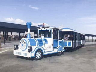 What Is A Trackless Train used in Amusement Parks?