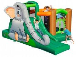 Happy Elephant Inflatable Castle
